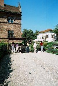 Picknick und Boule-Spiel im Schlossgarten