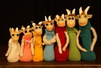 Bild zu Nürnberger Kindertheaterreihe: Figurentheater Eigentlich: Sieben Geißlein