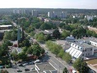 Bild zu Blick von oben auf den Stadtteil Langwasser