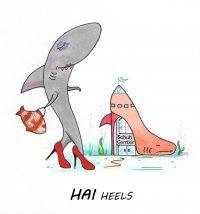 Bild zu Vernissage: Happy Drops, Fränkeleien und Haie